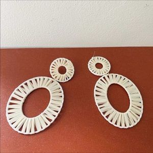 NWT Anthropologie BaubleBar White Earrings